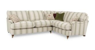 Gower Racing Stripe Left Hand Facing 3 Seater Corner Sofa