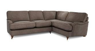 Gower Velvet Left Hand Facing 3 Seater Corner Sofa
