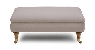Gower Racing Plain Rectangular Footstool