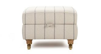 Gower Stripe Storage Footstool