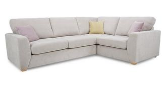 Gracie Left Hand Facing  2 Seater Corner Deluxe Sofa Bed