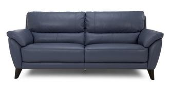 Graduate Leather and Leather Look 3 Seater Sofa