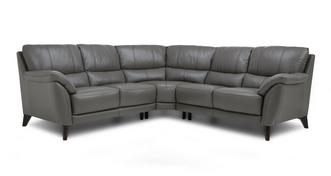 Graduate Option C Leather and Leather Look 2 Corner 2 Sofa