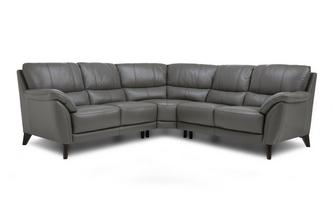Option C Leather and Leather Look 2 Corner 2 Sofa Premium