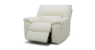 Grid Leather and Leather Look Manual Recliner Chair