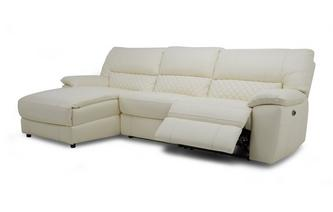 Option F Leather and Leather Look Left Hand Facing Chaise End Electric Recliner Sofa Ultimate