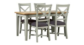 Harbour Large Rectangular Extending Table & Set of 4 Cross Back Chairs