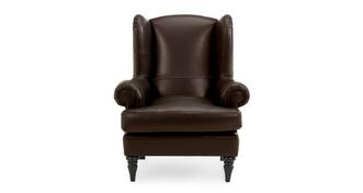 Hart Leather High Wing Back Chair