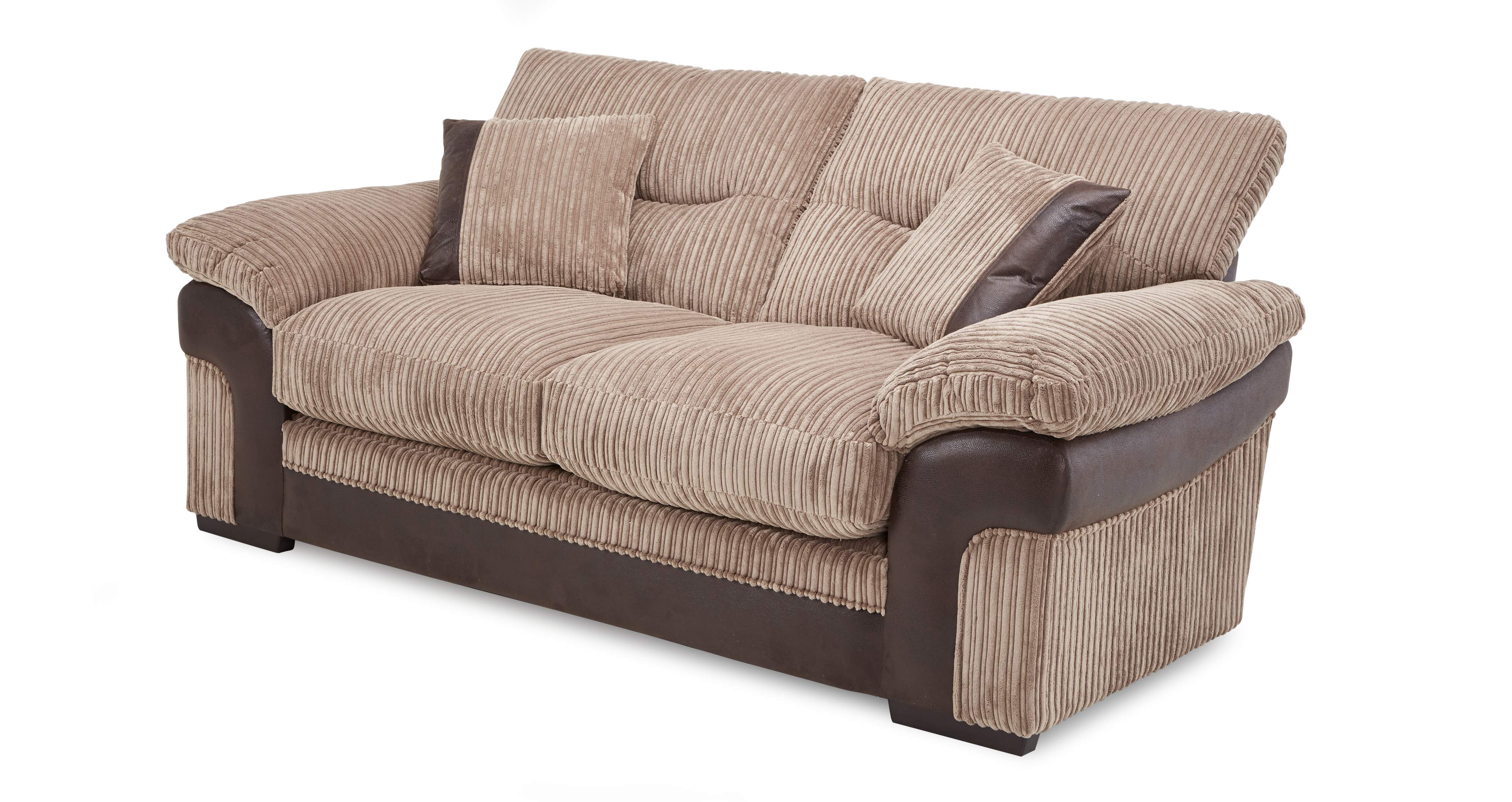 Dfs Heath Set Inc Brown Fabric 2 Seater Sofa Bed