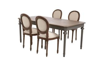 Rectangular Extending Table & Set of 4 Ornate Balloon Back Chairs Heirloom