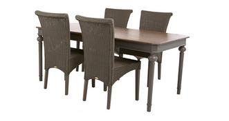 Heirloom Rectangular Extending Table & Set of 4 Zany Chairs