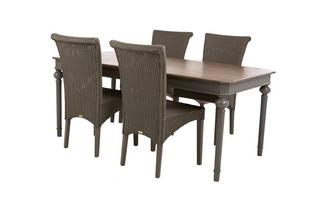 Rectangular Extending Table & Set of 4 Zany Chairs Heirloom
