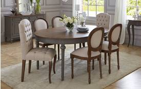 Heirloom Round Extending Table & Set of 4 Ornate Balloon Back Chairs Heirloom