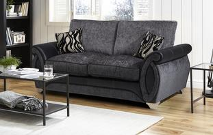 Helix Large 2 Seater Formal Back Deluxe Sofa Bed Helix