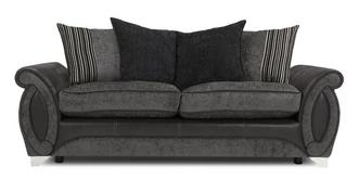 Helix 3 Seater Pillow Back Deluxe Sofa Bed