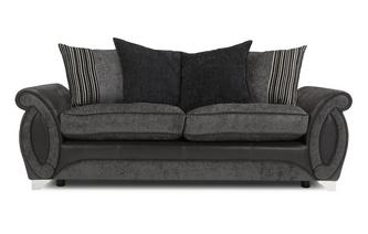 3 Seater Pillow Back Deluxe Sofa Bed Helix