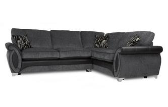 Left Hand Facing 3 Seater Formal Back Corner Sofa Helix