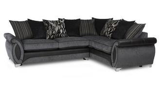 Helix Left Hand Facing 3 Seater Pillow Back Deluxe Corner Sofa Bed