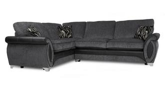 Helix Right Hand Facing 3 Seater Deluxe Formal Back Corner Sofa Bed