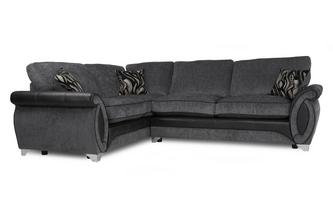 Right Hand Facing 3 Seater Deluxe Formal Back Corner Sofa Bed Helix