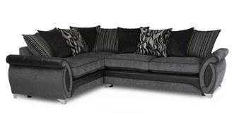Helix Right Hand Facing 3 Seater Pillow Back Deluxe Corner Sofa Bed