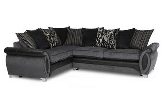 Right Hand Facing 3 Seater Pillow Back Deluxe Corner Sofa Bed Helix