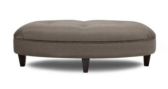 Henley Pattern Oval Footstool