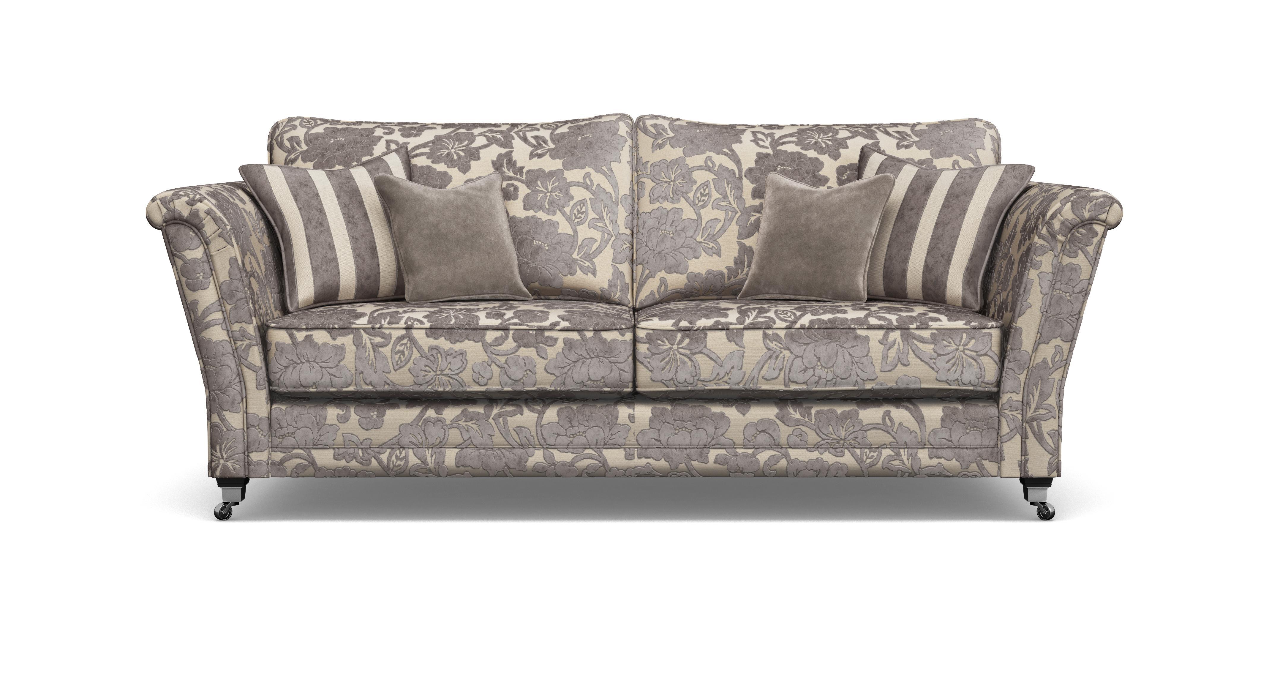 Striped 2 Seater Sofa Hogarth A Hogarthfloral Mink View