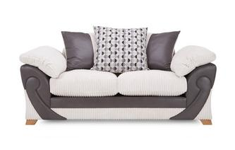 2 Seater Pillow Back Sofa Illusion