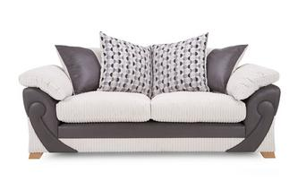 3 Seater Pillow Back Sofa Illusion