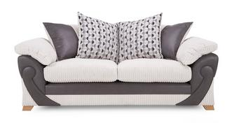 Illusion 3 Seater Pillow Back Deluxe Sofabed