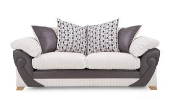 3 Seater Pillow Back Deluxe Sofabed Illusion
