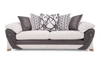 4 Seater Pillow Back Sofa Illusion