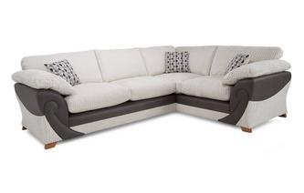 Left Hand Facing 2 Seater Formal Back Corner Sofa Illusion