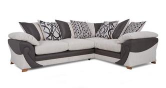 Illusion Left Hand Facing 2 Seater Pillow Back Corner Sofa