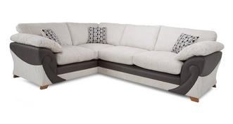 Illusion Right Hand Facing 2 Seater Formal Back Corner Sofa