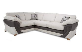 Right Hand Facing 2 Seater Formal Back Corner Sofa Illusion