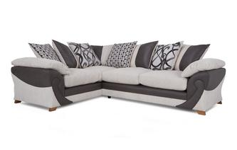 Right Hand Facing 2 Seater Pillow Back Corner Sofa Illusion