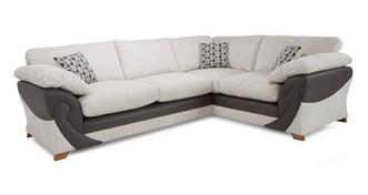 Illusion Left Hand Facing 2 Seater Formal Back Corner Deluxe Sofabed