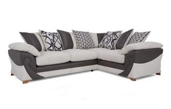 Left Hand Facing 2 Seater Pillow Back Corner Deluxe Sofabed Illusion