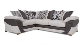 Illusion Right Hand Facing 2 Seater Pillow Back Corner Deluxe Sofabed