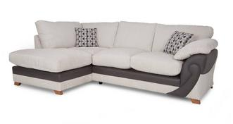 Illusion Right Arm Facing Open End Formal Back Corner Sofa