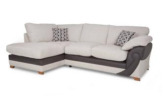 Right Arm Facing Open End Formal Back Corner Sofa Illusion