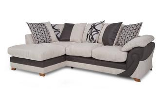 Right Arm Facing Open End Pillow Back Corner Sofa Illusion