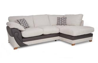 Left Arm Facing Open End Formal Back Corner Sofa Illusion