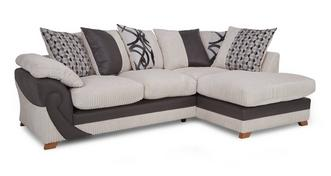 Illusion Left Arm Facing Open End Pillow Back Corner Sofa