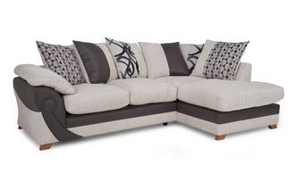 Left Arm Facing Open End Pillow Back Corner Sofa Illusion