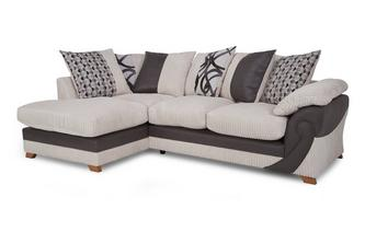 Right Arm Facing Open End Pillow Back Corner Deluxe Sofabed Illusion