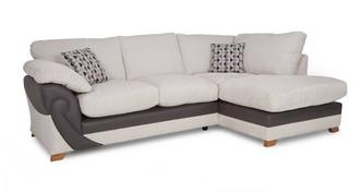 Illusion Left Arm Facing Open End Formal Back Corner Deluxe Sofabed