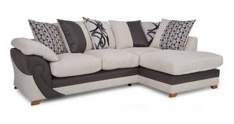 Illusion Left Arm Facing Open End Pillow Back Corner Deluxe Sofabed